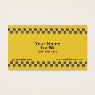 Taxi Checkered Cartes De Visite