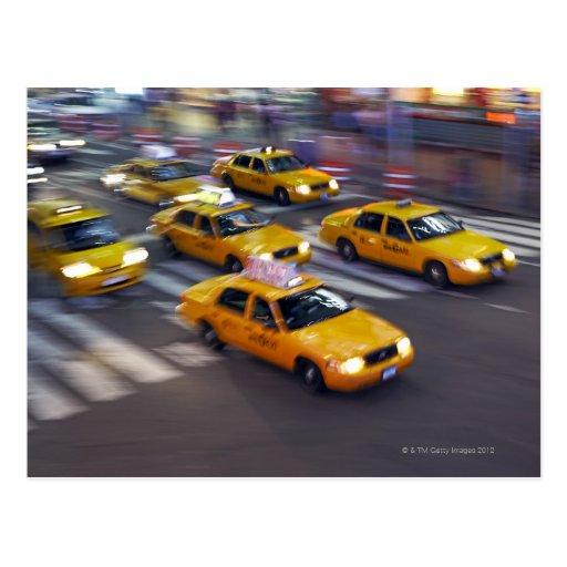 taxi jaune de new york cartes postales zazzle. Black Bedroom Furniture Sets. Home Design Ideas