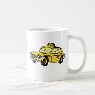 Taxi jaune mug blanc
