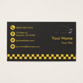 Taxi noir de la meilleure qualité cartes de visite