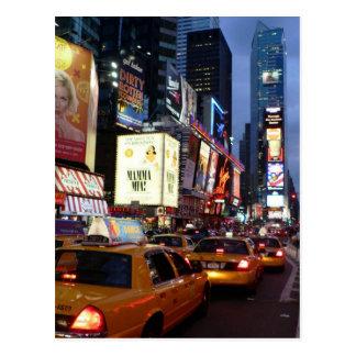 Taxis carrés de temps carte postale