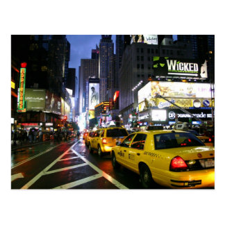 Taxis sur Broadway New York Cartes Postales
