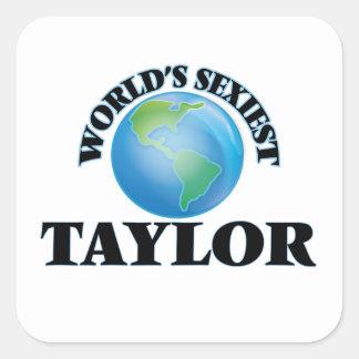 Taylor le plus sexy du monde sticker carré