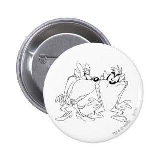 Taz and She-Devil Pinback Buttons