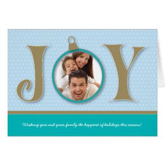 {Tba} Carte de vacances de famille de joie de