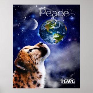 TCWC - Paix sur le guépard de la terre Posters