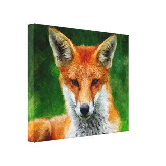 TCWC - Peinture d'aquarelle de Fox rouge sur la to Toiles Tendues Sur Châssis