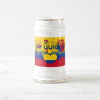 ¡ Te Quiero Le drapeau de la Colombie colore l a Mugs À Café