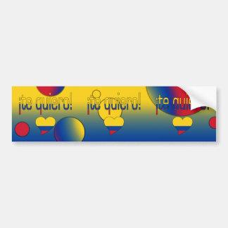 ¡ Te Quiero ! Le drapeau de la Colombie colore l'a Autocollants Pour Voiture