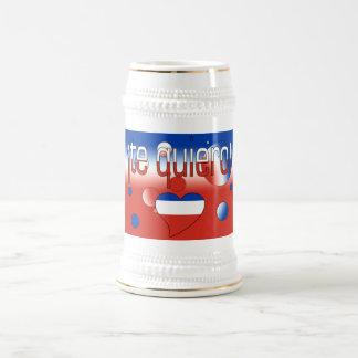 ¡ Te Quiero ! Le drapeau du Chili colore l'art de  Tasse À Café