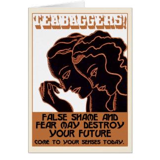 Teabaggers ! Honte et crainte fausses [carte] Carte De Vœux