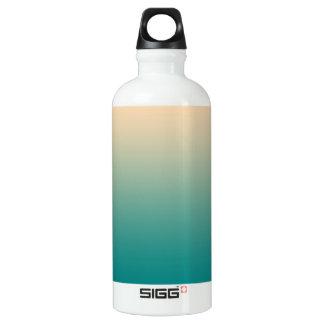 Teal et gradient jaune de sable bouteille d'eau en aluminium