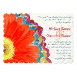 Teal et invitation roses profonds de mariage de