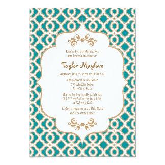 Teal et invitations nuptiales marocains de douche