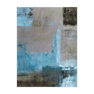 """Teal """"étagé"""" et copie de toile d'art abstrait de toiles"""