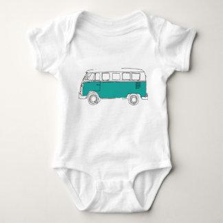 Teal Van Bodysuit - cadeau de bébé Body