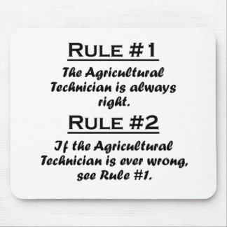 Technicien agricole de règle tapis de souris