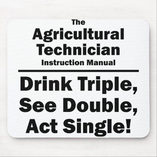 technicien agricole tapis de souris