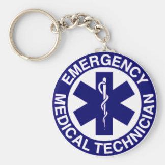 Technicien médical de secours d'EMT Porte-clé Rond