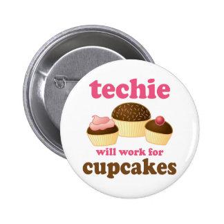 Technicien mignon de petit gâteau badge rond 5 cm