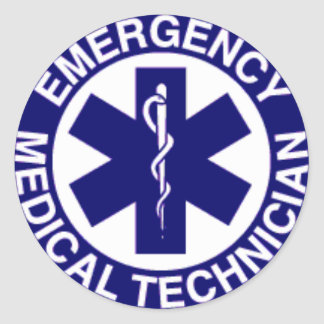 TECHNICIENS MÉDICAUX EMT DE SECOURS STICKER ROND