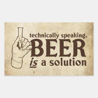 Techniquement parlant, la bière est une solution sticker rectangulaire