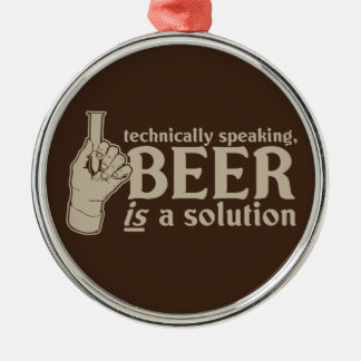 techniquement parlant, la bière est une solution décoration de noël