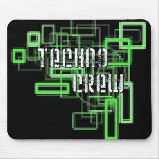 techno crew tapis de souris