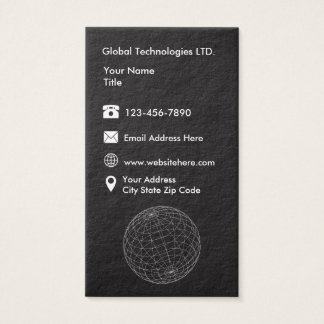 Technologie Businesscards moderne Cartes De Visite