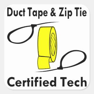 Technologie certifiée par cravate de ruban adhésif