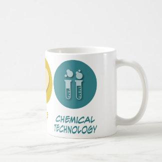 Technologie de produit chimique d'amour de paix mugs