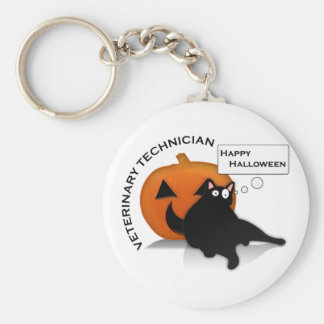 Technologie heureuse de vétérinaire de Halloween ! Porte-clé Rond
