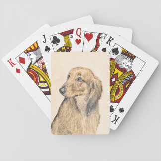 Teckel 2 (à cheveux longs) jeux de cartes