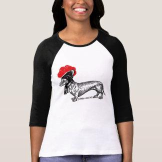 Teckel avec des Bollenhut T-shirt