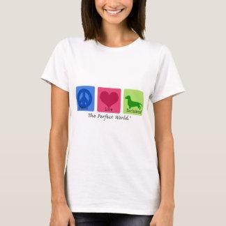 Teckel d'amour de paix t-shirt