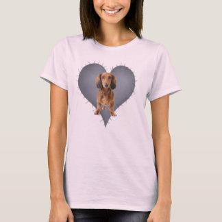 Teckel de coeur t-shirt