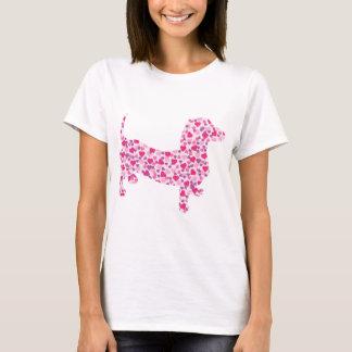 Teckel de coeurs de Valentine T-shirt