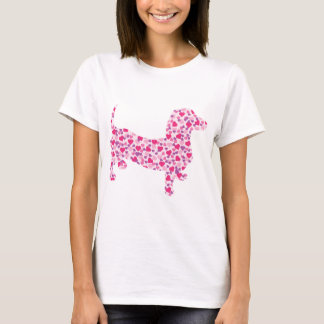 Teckel de Saint-Valentin T-shirt