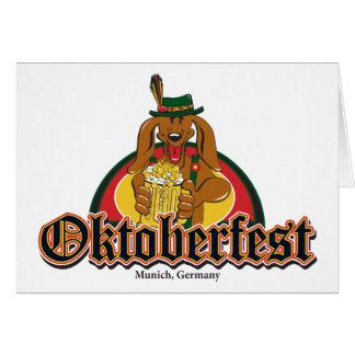 Teckel d'Oktoberfest Cartes