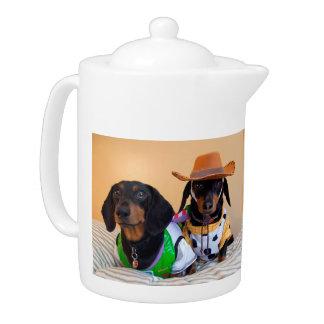 Teckel drôle - cowboy de chien