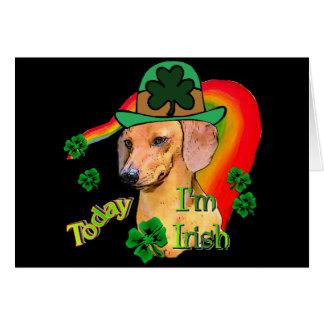 Teckel du jour de St Patrick Carte De Vœux