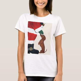 Teckel et Père Noël T-shirt