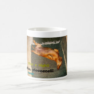 Teckel fatigué mug