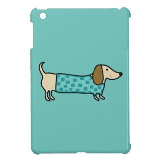 Teckel mignon dans le bleu en bon état étuis iPad mini