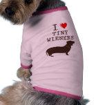 Teckel minuscule de saucisse d'amour drôle d'I T-shirt Pour Animal Domestique