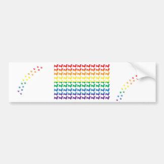 Teckels d'arc-en-ciel de gay pride autocollant de voiture