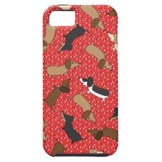Teckels de danse (rouges) étuis iPhone 5