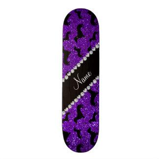 Teckels pourpres personnalisés de scintillement d' plateaux de skateboards customisés