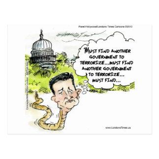 Ted Cruz rampe du congrès drôle Cartes Postales