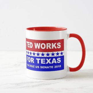 Ted fonctionne pour la conception blanche du Texas Mug